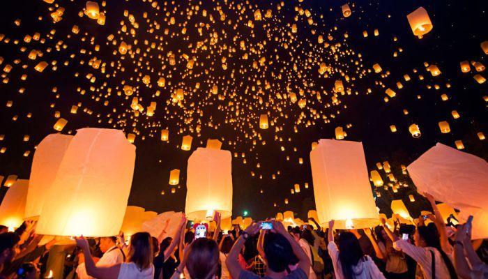 lễ hội đèn trời