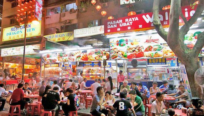 khu ẩm thực Jalan Alor