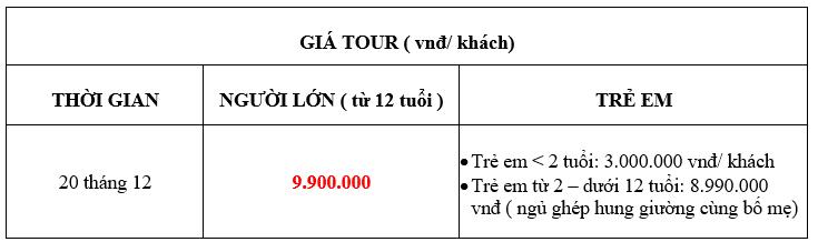 Bảng giá tour Nha Trang Hàn Quốc 5n4đ