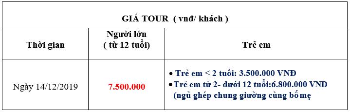 Bảng gía tour Nha Trang Hàn Quốc 5n4đ
