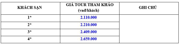 Giá chương trình tour du lịch Đà Lạt 2020 3N2Đ