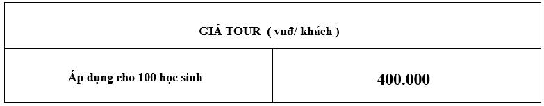 TOUR TRẢI NGHỆM HỌC SINH TIỂU HỌC