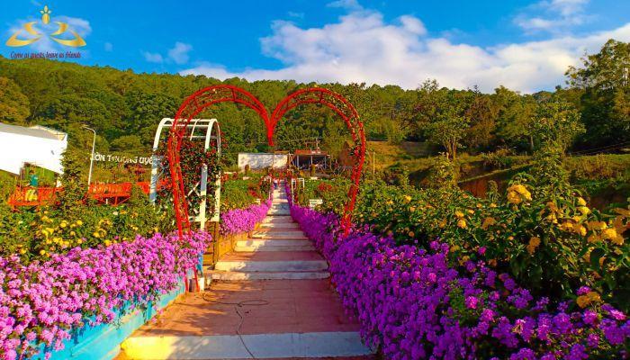 Vườn Thượng Uyển được xây dựng theo phong cách hoàng gia