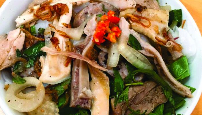 bánh ướt lòng gà ở Đà Lạt