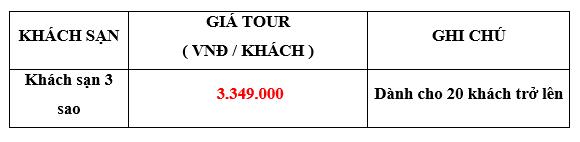 Giá tour du lịch Đà Lạt mộng mơ 3 ngày 2 đêm