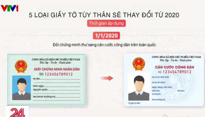 Chứng minh nhân dân được đổi thành thẻ căn cước.