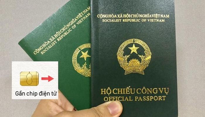 Hộ chiếu được gắn chíp điện tử