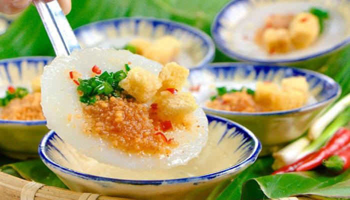Thưởng thức bánh bèo Bảo Lộc