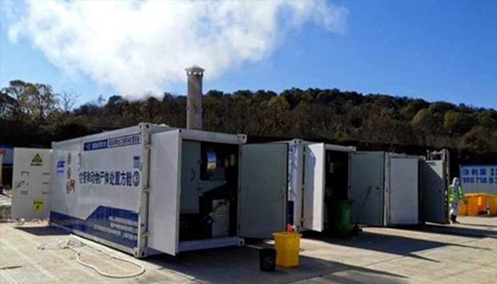 Nhiều lò đốt di động được đưa đến Trung Quốc