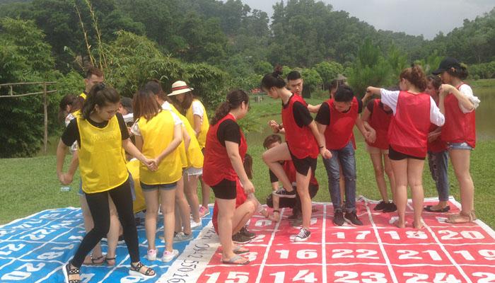 Trò chơi building trí tuệ ô chữ- team building Đà Lạt (Ảnh: Internet)