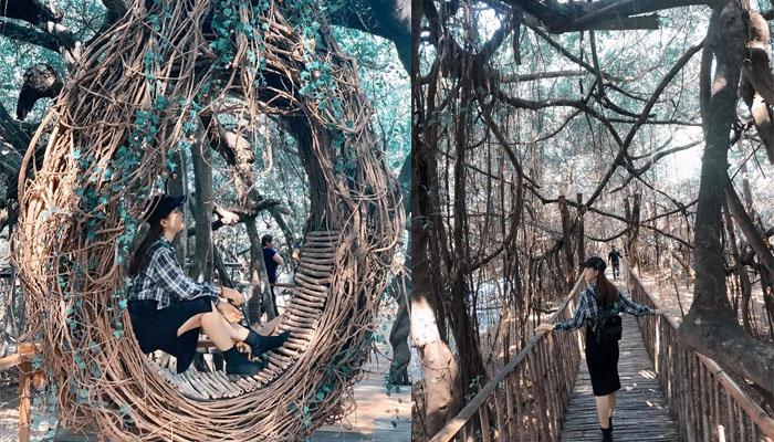 Góc sống ảo xịn xò ở thác