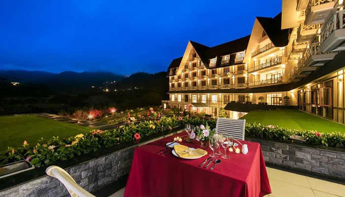 Không gian tuyệt đẹp ở Tuyền Lâm Resort
