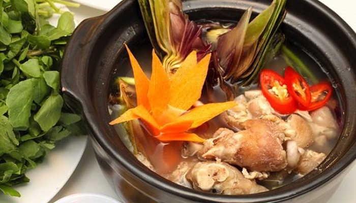 Canh hoa atiso hầm với giò heo – Món ăn đạt Kỷ lục châu Á 2012