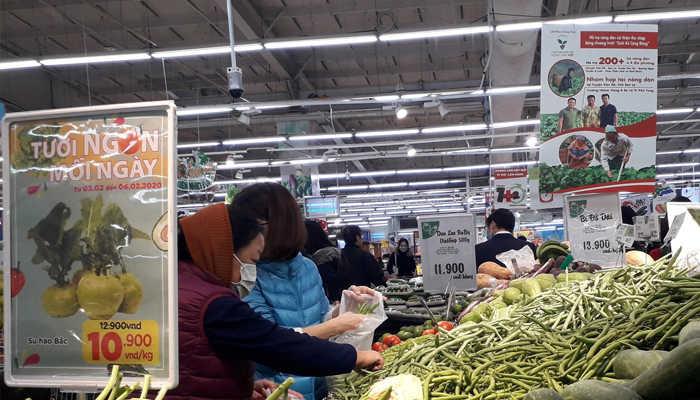 Các mặt hàng rau, củ quả được cung cấp đầy đủ đáp ứng nhu cầu của người dân