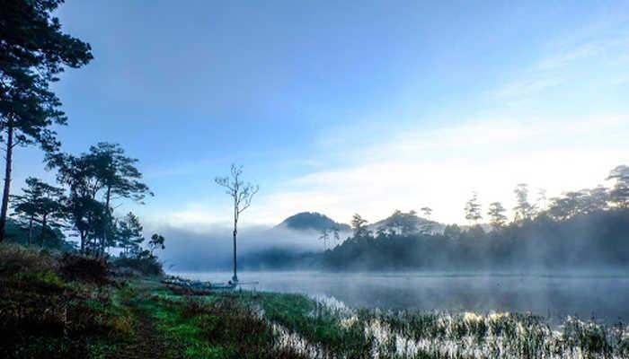 Hồ Tuyền Lâm Đà Lạt tinh khôi trong sương sớm