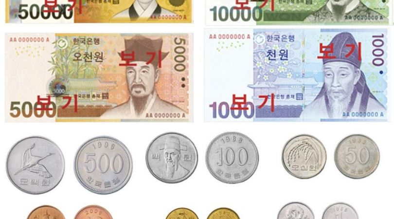 Du lịch Hàn Quốc - nên biết chút ít về mệnh giá tiền Hàn Quốc nhé