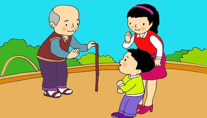 Kỹ năng sống cho trẻ mầm non- Day con cách chào hỏi với người lớn tuổi