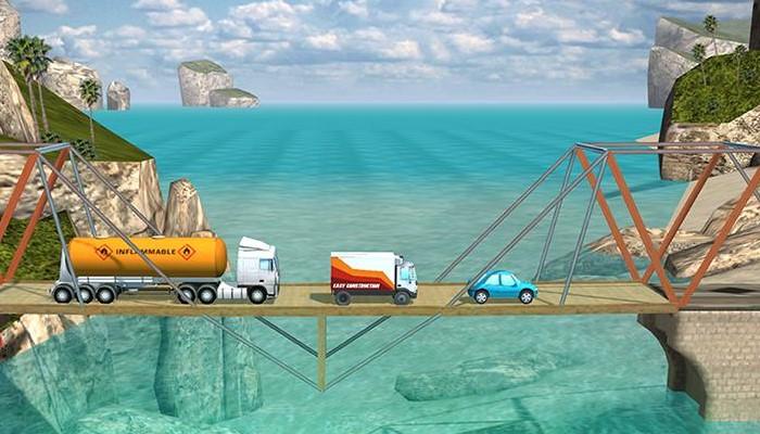 Game trí tuệ cho bé Bridge Constructor, xây dựng một thế giới riêng